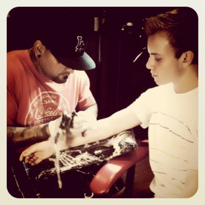 """@itsryanbutler getting his first tatoo"""